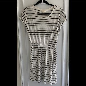 H&M striped dress in black and white